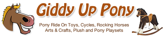 Small Pony Cycles Rocking Horses Unicorns Crafts and Pony Toys Logo