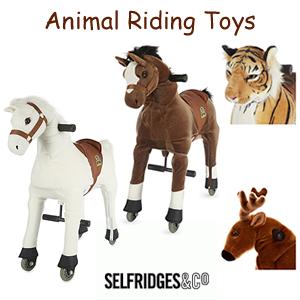 Selfridges Riding Animals unicorn, pony and horse ride ons with wheels
