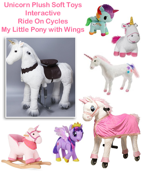 Unicorn plush toys baby rocker rocking horses ride on interactive animals