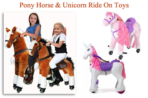 Pony Cycles with sound Plush ride on Pony Horse Unicorn on wheels