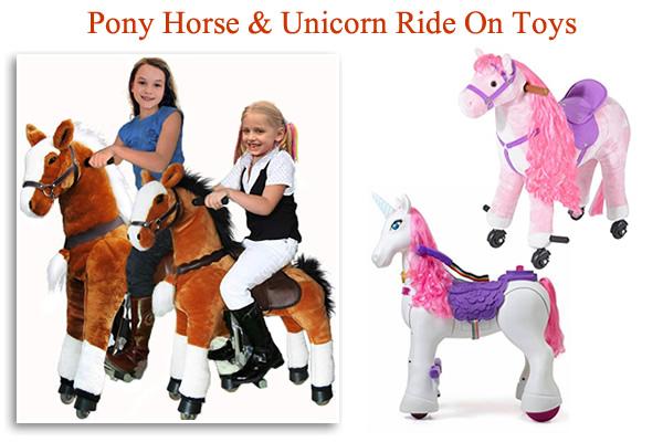 Pony Cycles with sound Plush ride on Pony Horse Unicorn on wheels