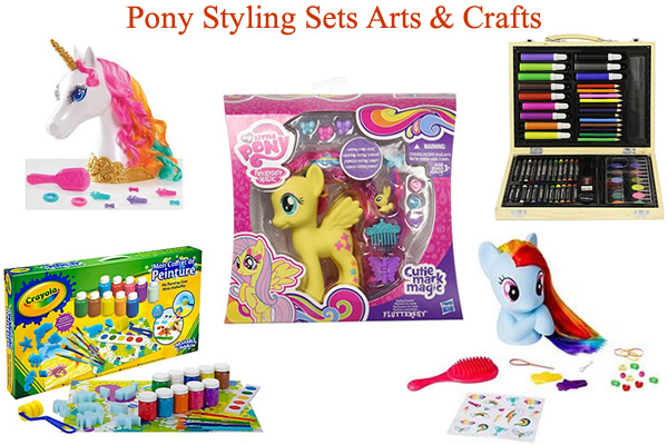 My Little Pony Styling head paint style unicorn toys arts and crafts Aquabeads Crayola