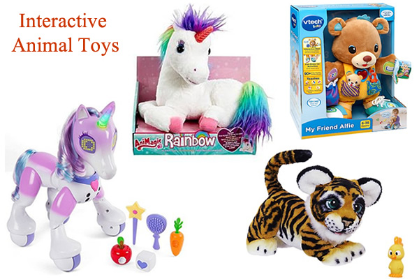 Interactive talking walking animal toys Zoomer pony horse and unicorn with sound