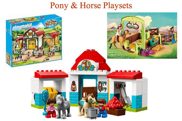 My Little Pony toys horse pony farm animals Playmobil LEGO DUPLO Playsets