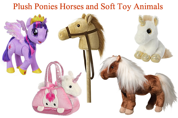 Unicorn Ride on with sound Plush Soft Pony Animal Toys