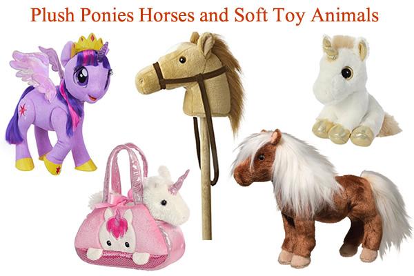 Unicorn Ride on with sound Plush Soft Pony Animal Toys