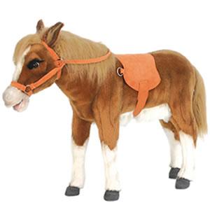 Plush sit on pony ride on toy
